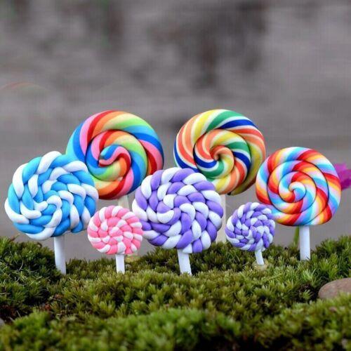 Lollipop Garden Decoration Ornaments Mini Craft Figurines Miniatures Resin 2 Pcs