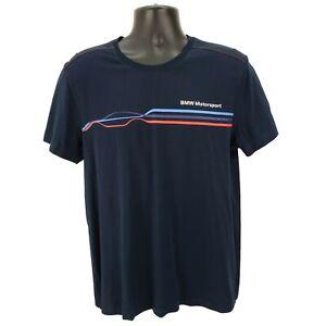 Official-BMW-Motorsport-Men-039-s-L-Large-T-Shirt-Navy-Blue-Car-Auto-Racing-M-Power