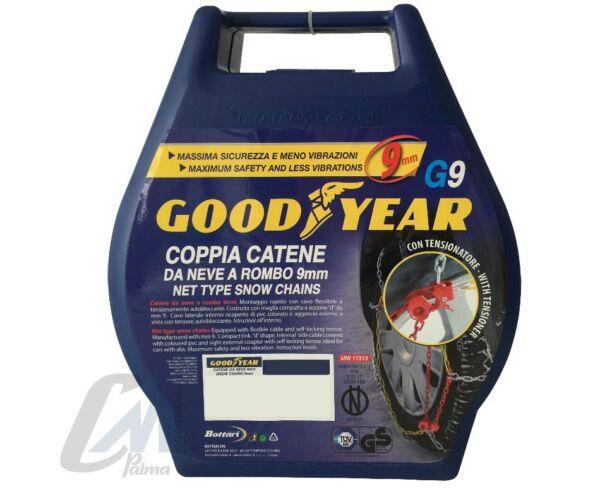 050 77903 Catene Da Neve Goodyear G9 Gomma 185/65-13 100% Garantie