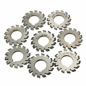 8-pcs-Module-M1-Inner-Bore-20-22mm-1-8-HSS-Involute-Gear-Cutters-Disk-shaped