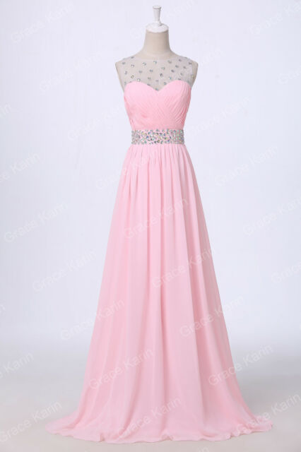 New Formal Long Evening Homecoming Party Prom Bridesmaid Dresses Stock Size 6-20