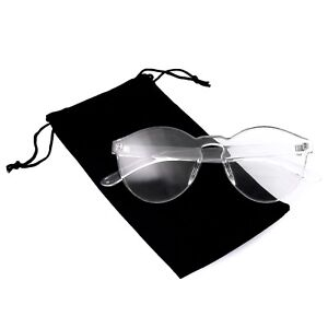 bd9acc1ab9bd Image is loading Colorful-One-Piece-Rimless-Transparent-Sunglasses-Women- Tinted-