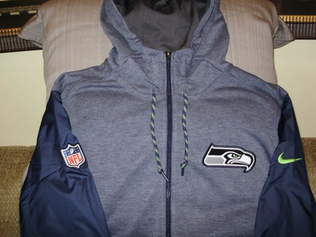 42367245 Nike Mens Seattle Seahawks Travel Hoodie Jacket 837631 Large L