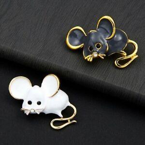 Rat-Zodiac-Mouse-Lovely-Enamel-Brooch-Pin-Women-Costume-Fashion-Jewelry-Gifts