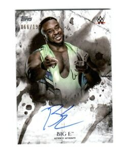 WWE-Big-E-2018-Topps-Undisputed-On-Card-Autograph-SN-66-of-199