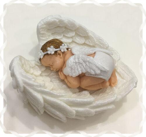 Handmade Baby Girl ANGEL cake topper Christening baby shower birthday
