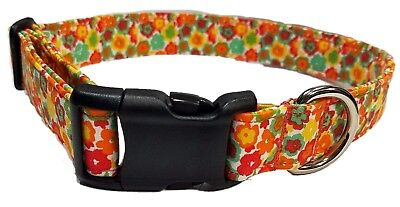 Red Floral Dog Collar The Daisies in Red