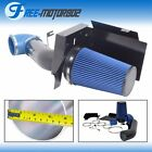 Fit GMC Chevy V8 4.8L 5.3L 6.0L Heat Shield Cold Air Intake System Blue Filter