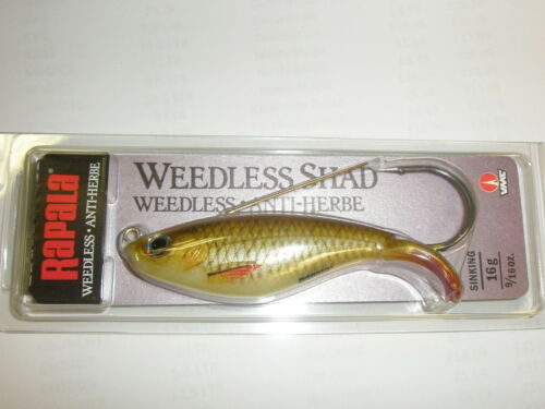 Rapala Weedless Shad Sinking Lure 8cm 16g JUNGLE PERCH Fishing tackle