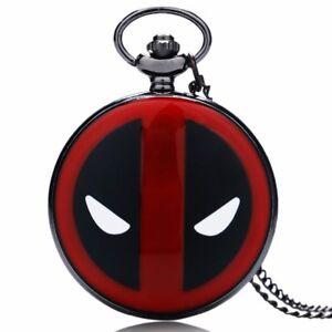 Marvel-Comics-Black-Deadpool-Mask-Pocket-Watch