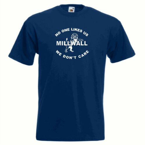 Millwall FC Nobody Likes US Dundee Blu Navy Calcio T-Shirt Taglie Sml a 6XL