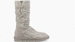 Grey Knit 5 8 100 5 Ugg Bnib Seal Boots Genuine 5 Uk Women's 7 Kalla 5 0FFxqpS