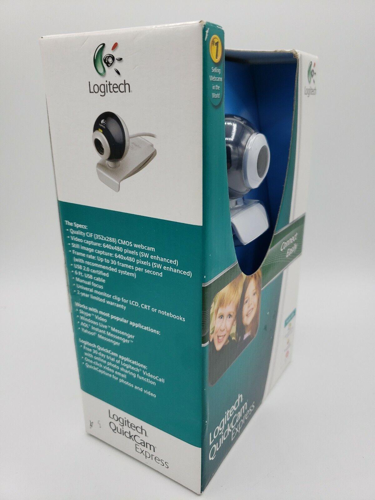Logitech Quickcam Express Web Cam Video Capture 640x480 Pixels New