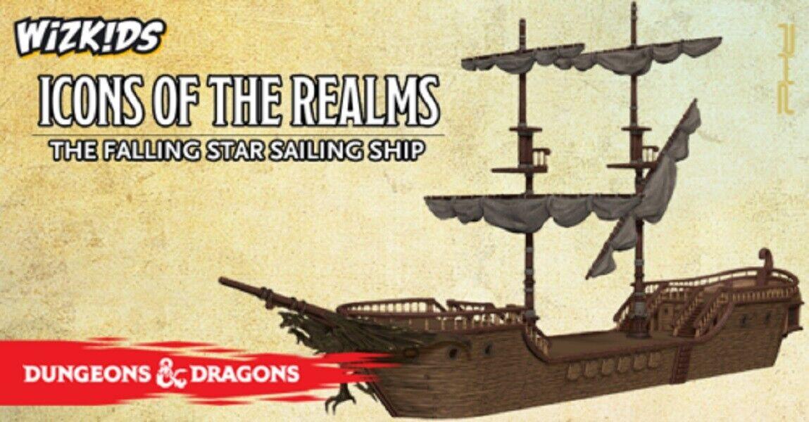 Dungeons och drakes D &D -ikoner från Realms - The Falling stjärna Sailing Ship (New)