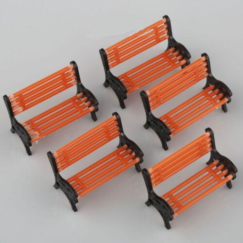 5pcs banc modèle train rail plate-forme parc rue sièges sièges aménagementRD