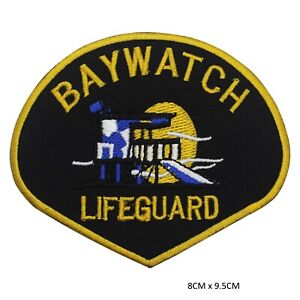 Baywatch-Movie-Sew-on-Iron-on-Patch-Badge-Embroidered-for-Clothes-Bags-etc