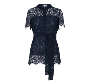 Whistles -- Fraia Lace Shirt - Navy Blau - New with tag - Größe 14