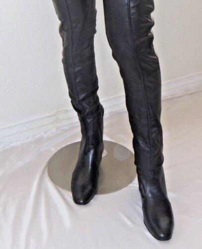 Jumpsuit Costume Era 8 Elvis BLACK 100/% Leather Zip-Up Boots NEW Size USA