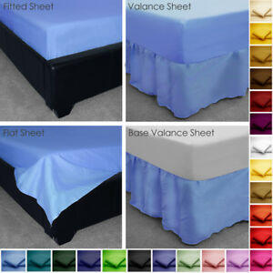 Image Is Loading Poly Cotton Fitted Valance Base Valance Flat Bed