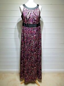 BNWT-F-amp-F-Long-Dress-Size-14-Purple-Red-Beige-Sleeveless-2047