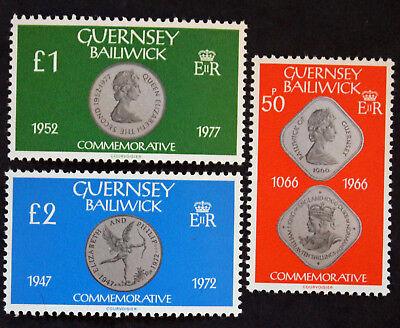 Beliebte Marke Briefmarke Guernsey cyn29 Yvert Und N Tellier°196 à 198 Mnh Letzter Stil