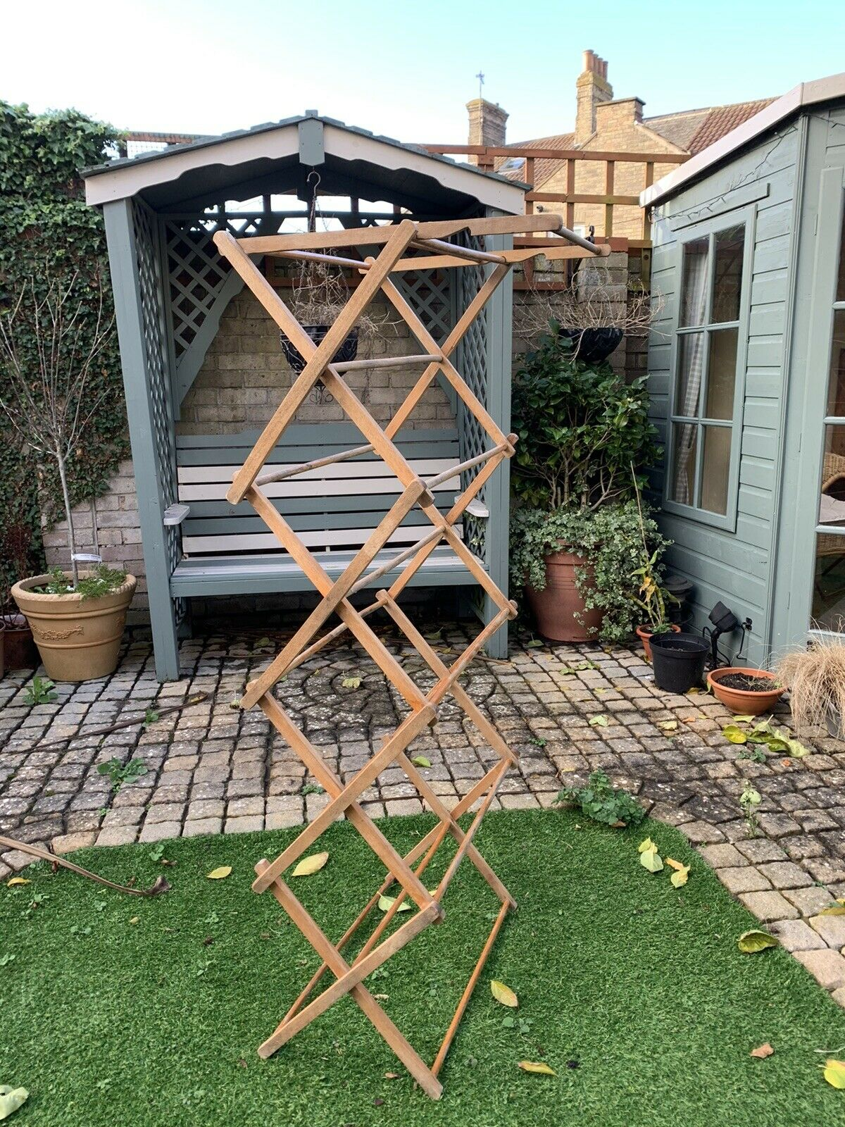 Wooden Zig Zag Drying Rack Airer Clotheshorse For Sale Ebay