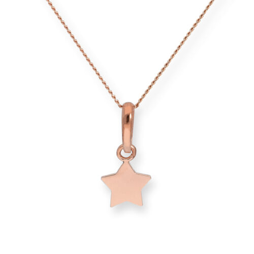 Real 375 9ct Rose Gold Star Necklace Necklace Night Sky Solar System