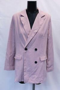 Elenza-by-L-amp-L-Women-039-s-Double-Breasted-Blazer-HD3-Pink-Medium-NWT