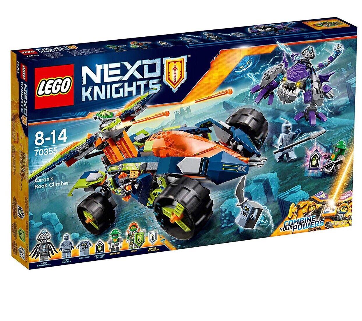 Lego nexo Caballeros 70355 Aaron's escalador de roca Conjunto retirado y de la serie