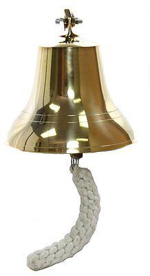 """6"""" Brass Ship Bell - Nautical Bells"" Ringing Wall Decor"