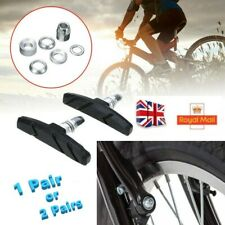 1//2 Pairs Brake Blocks Bicycle MTB Blocks Pads Shoes Mountain 70mm Black UK