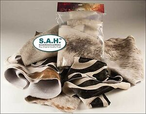 NEW STOCK NICE VARIETY 20 PIECES Hair on Cow hide Scrap Leather hide remnants