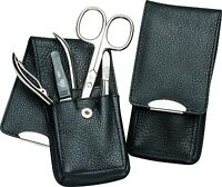 Becker-manicure Erbe Solingen 4 Piece Manicure Set Case For Men Leather