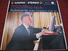 LP ARTUR RUBINSTEIN KRIPS Beethoven Concerto No. 5 RCA LIVING STEREO