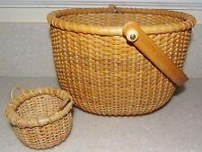 Lot 2 ~ NANTUCKET style Basket bentwood bail handle
