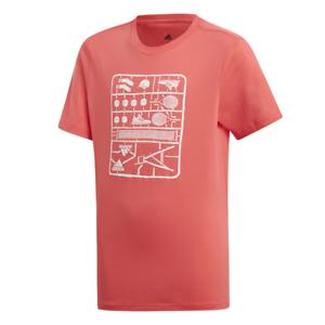 online retailer 5aed0 38654 Details zu Adidas Jungen T-Shirt Kids Young Grafik T-Shirt Tennis Training  Mode DV2968