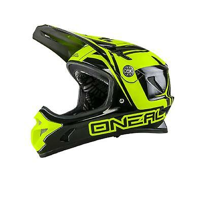 Oneal Spark Casco Dh Nero Giallo Mtb Fullface Downhill Enduro Mountain Bike Trail-