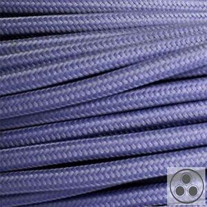 Textilkabel Stoffkabel Lampen-Kabel Stromkabel Elektrokabel Königsblau 3 adrig