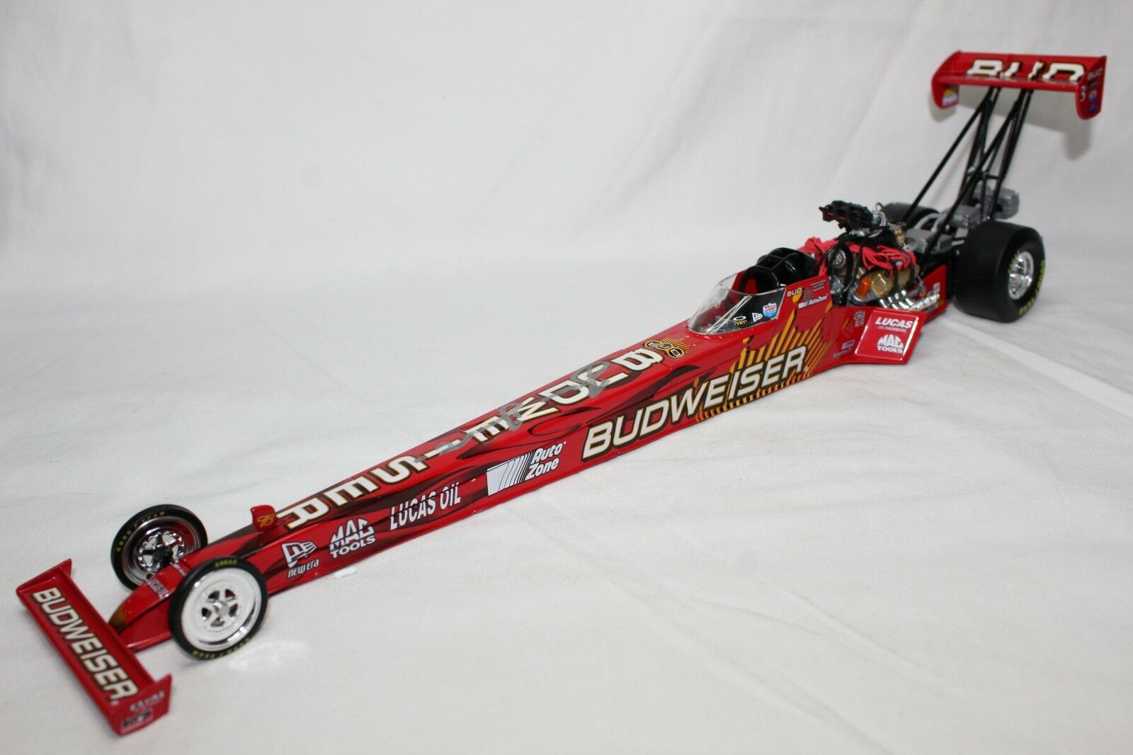Action 1 24 Scale NHRA BRANDON BERNSTEIN BUDWEISER 2005 DRAGSTER - AUTOGRAPHED