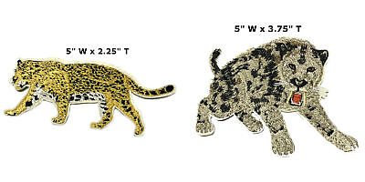 Sabretooth Tiger and Jaguar Embroidered Patch Iron or Sew-on 2 PC