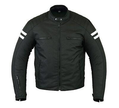 All Season Men's Cafe Racer Style Textile Jacket DS710