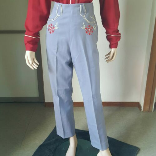 1940s Vintage Women's Western Pants With Chain Sti