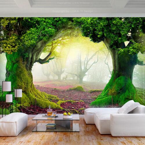 VLIES FOTOTAPETE Wald Natur Herbst 3D effekt TAPETE WANDBILDER XXL Wohnzimmer