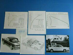 N°12523 / Bmw Ls Coupé- 1962 1 Photo Et 5 Plans Techniques Exquis (En) Finition