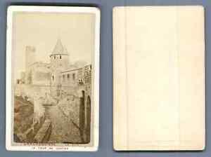 France Carcassonne La Tour De Justice CDV Vintage