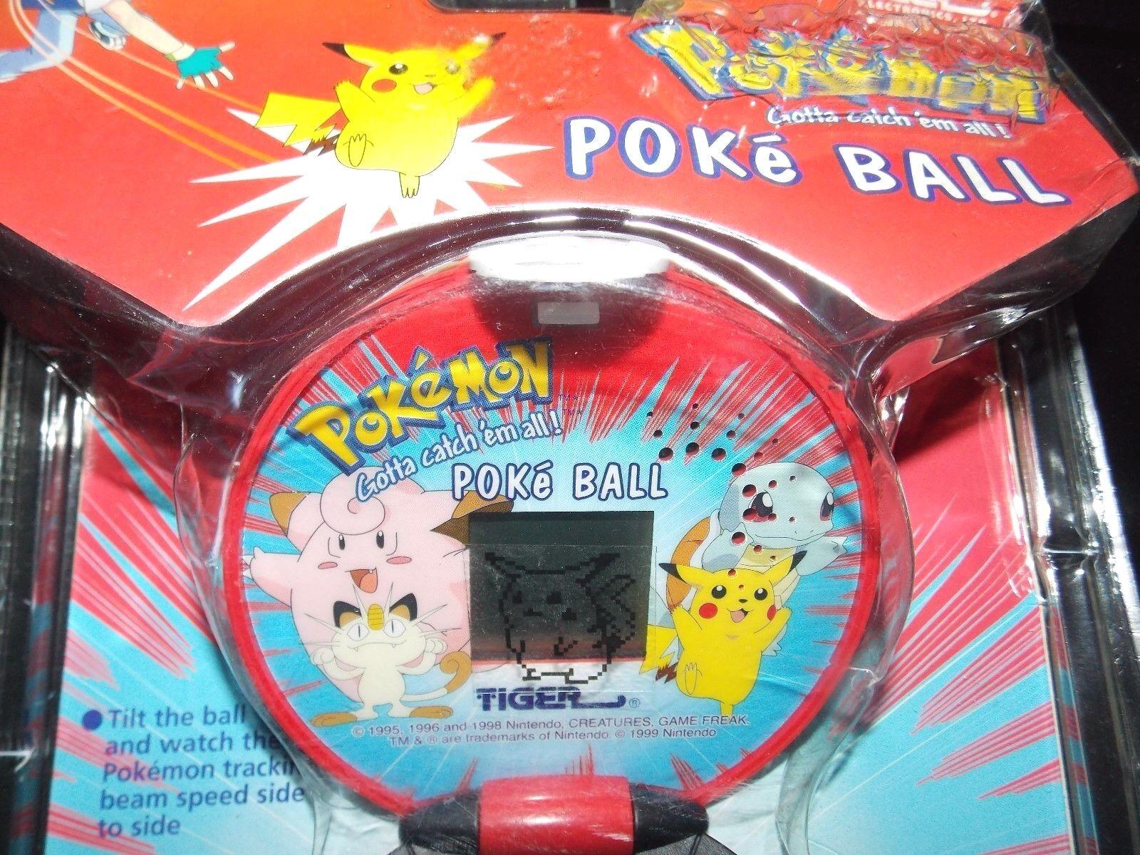 VTG 1998 Tiger Electronics Pokemon Pokeball poke ball ball ball handheld game ASH pikachu c914a2