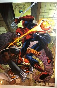 Details about John Romita Jr Spider-Man / Hobgoblin signed Limited Edition  Art Print