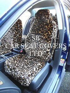 To Fit A Fiat 500 Car Seat Covers Gold Leopard Faux Fur Full Set