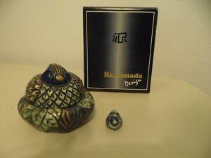 Artesania Rinconada Bird On Nest Trinket Jewelry Box With Charm
