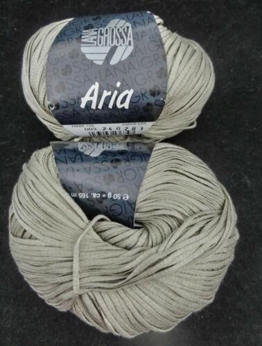 : 50 g LG ARIA 11,90 €//100g Baumwoll-Bändchengarn 003  #4328 Fb